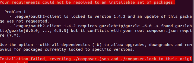 Composer 2 error message